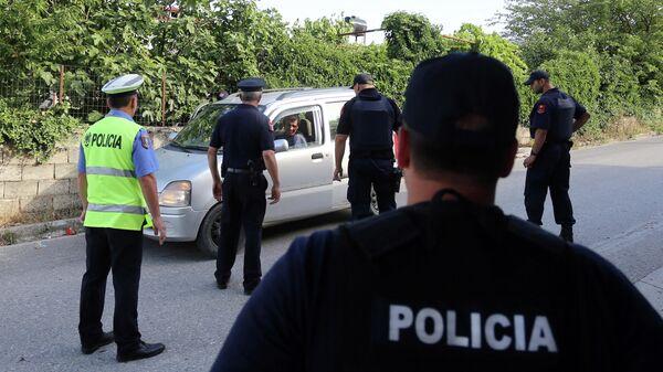 Сотрудники полиции Албании