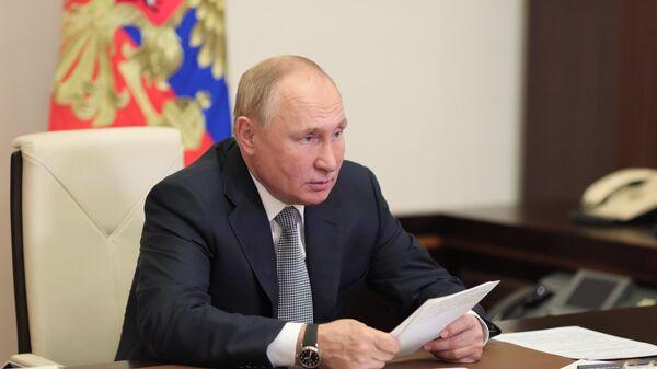 Президент РФ Владимир Путин проводит заседание президиума Государственного Совета по вопросу транспортной стратегии Российской Федерации