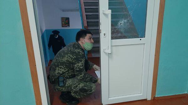 На месте стрельбы в школе Октябрьского района Пермского края