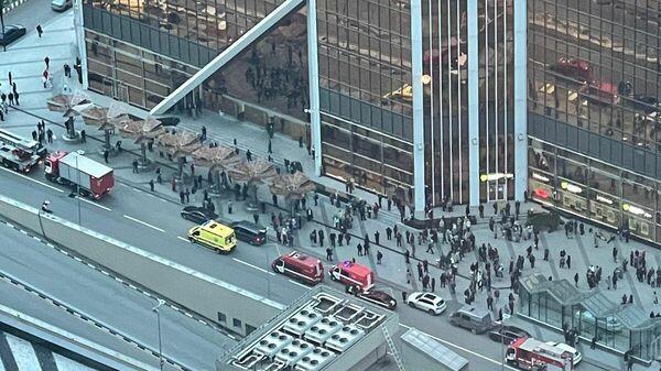 Пожар в башне Меркурий в Москва-Сити