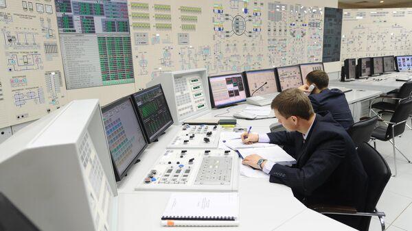 Сотрудники оперативной смены Ростовской атомной электростанции