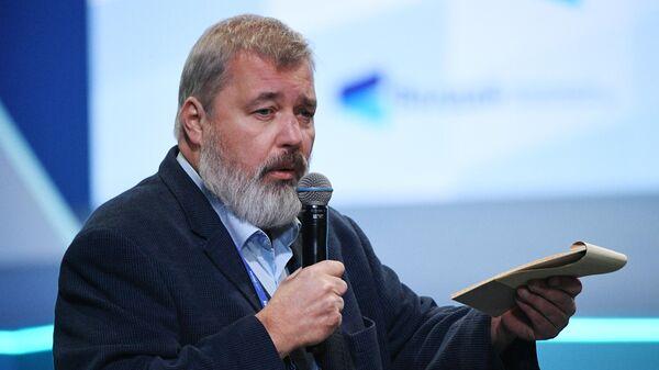 Главный редактор Новой газеты Дмитрий Муратов на пленарной сессии XVIII ежегодного заседания Международного дискуссионного клуба Валдай