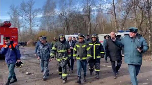 Чуприян прибыл на место взрыва под Рязанью. Кадры МЧС