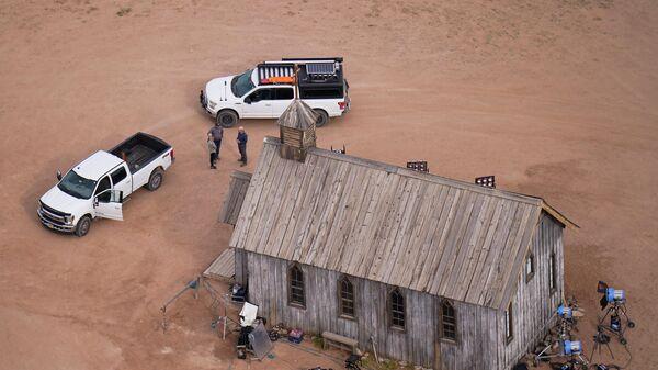 Cъемочная площадка фильма Ржавчина на ранчо Bonanza Creek