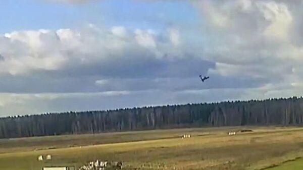 Момент падения легкомоторного самолета под Рузой