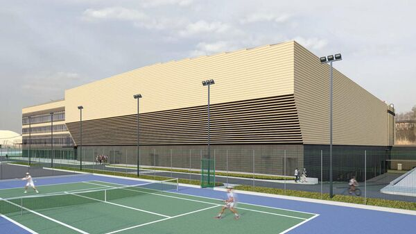 Проект дворца тенниса в составе Национального теннисного центра имени Хуана Антонио Самаранча на Ленинградском шоссе в Москве