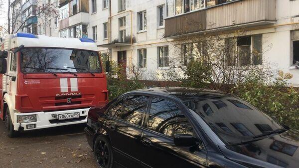Автомобиль МЧС на месте взрыва в Видном
