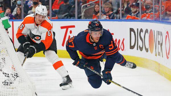 Игровой момент матча НХЛ Эдмонтон Ойлерз - Филадельфия Флайерз