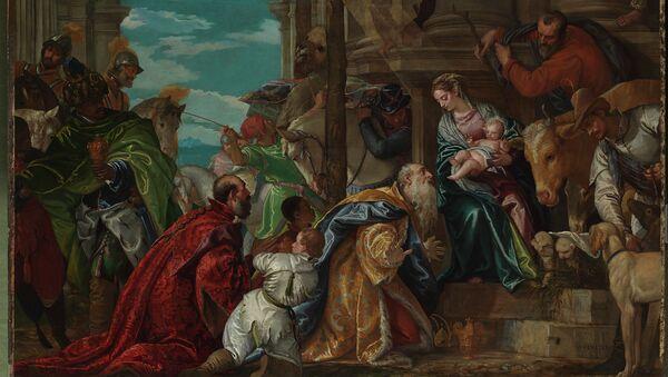 Паоло Веронезе. Поклонение волхвов. 1573. Фрагмент