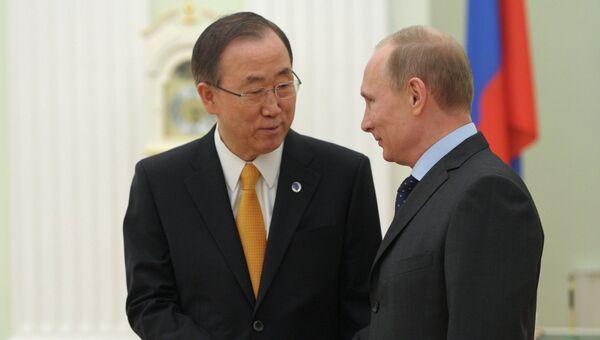 В.Путин встретился с Пан Ги Муном. Архивное фото