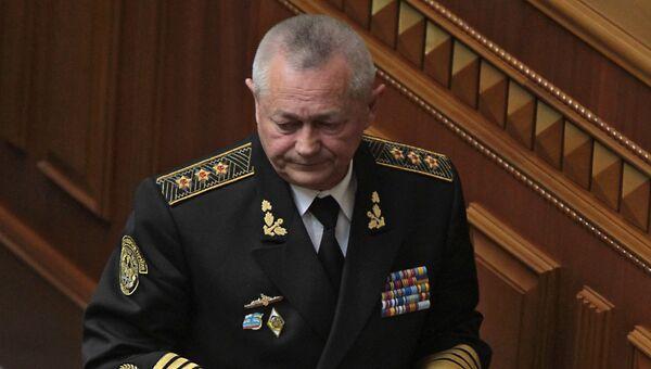 Исполняющий обязанности министра обороны Украины Игорь Тенюх. Фото с места события