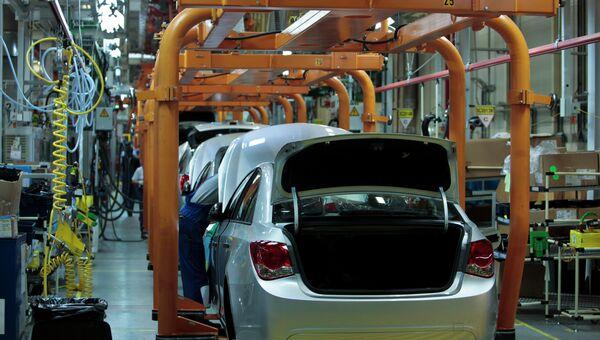 Завод General Motors в Санкт-Петербурге. Архивное фото