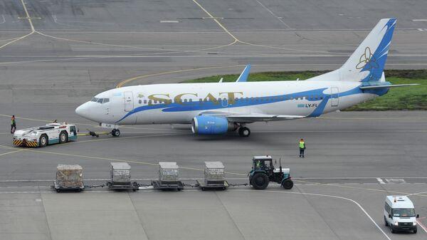 Пассажирский самолет Боинг-757 казахстанской авиакомпании SCAT (СКАТ). Архивное фото