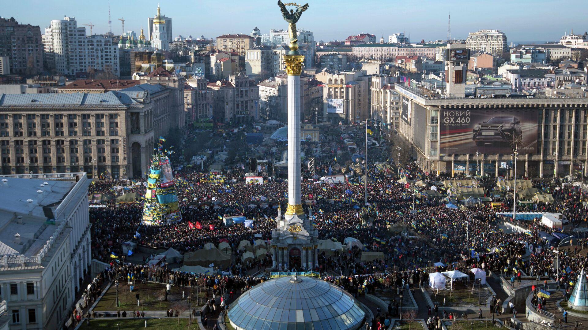 Народное вече на площади Независимости в Киеве - РИА Новости, 1920, 26.12.2020
