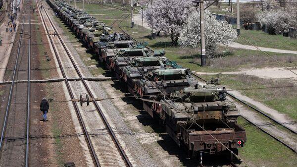 Отправка украинской военной техники из Крыма на Украину