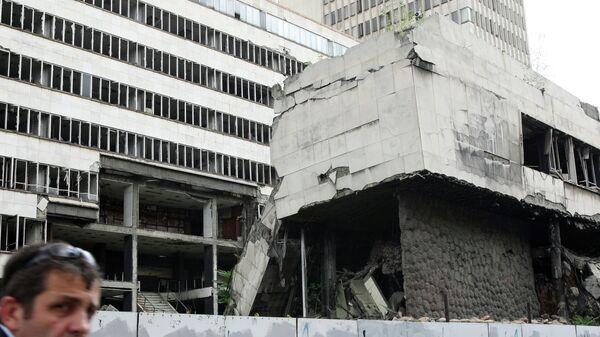 Разрушенные во время бомбардировок НАТО здания в Белграде
