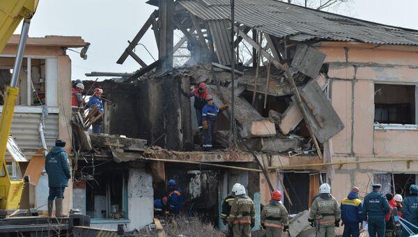 На месте взрыва газа в жилом доме в Омской области. Архивное фото