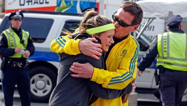 Участники Бостонского марафона. Архивное фото