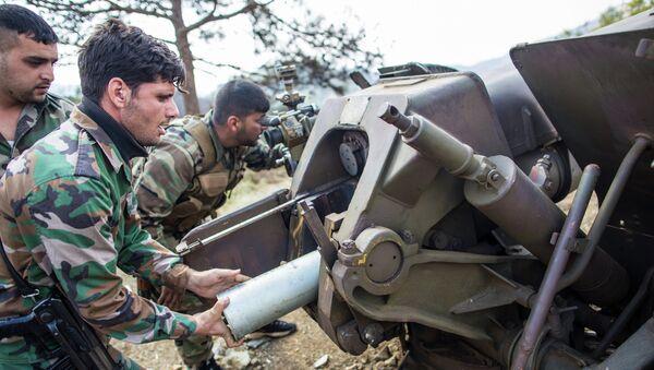 Артиллеристы сирийской армии. Архивное фото