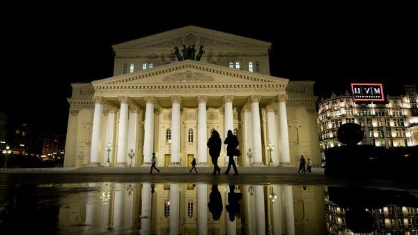 Подсветка Большого театра после реконструкции. Архивное фото