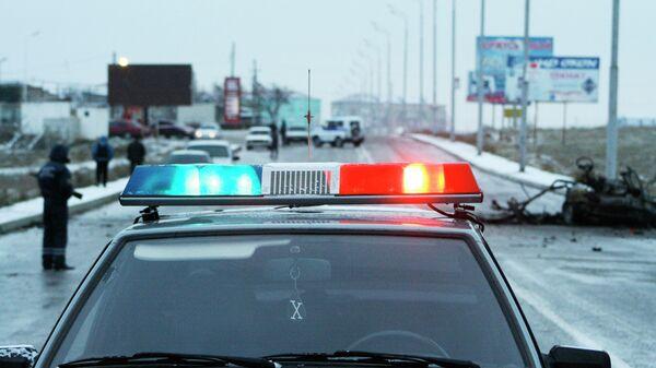 Полицейский автомобиль на Кавказе. Архивное фото