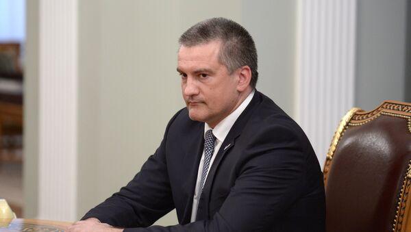Исполняющий обязанности губернатора Крыма Сергей Аксенов, архивное фото