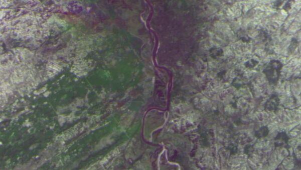 Снимок Томского района со спутника Метеор-М. Архивное фото
