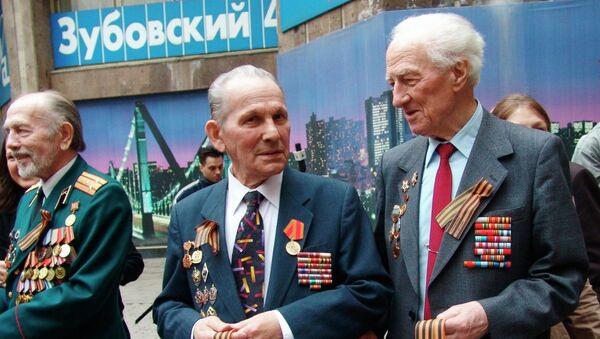 Встреча ветеранов Великой Отечественной войны, архивное фото