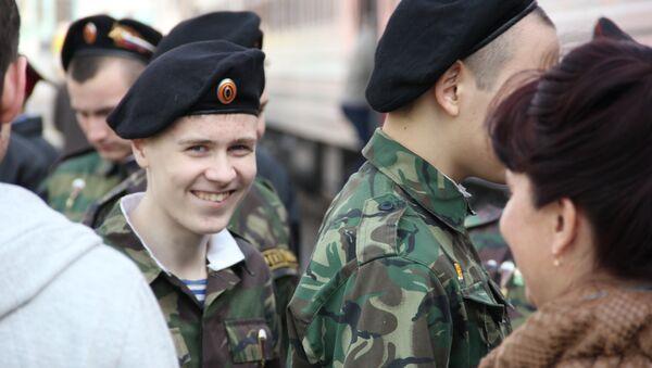 Отъезд отряда поисковиков Томского кадетского корпуса в Новгородскую область
