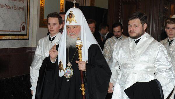 Пасхальное богослужение в Москве. Архивное фото