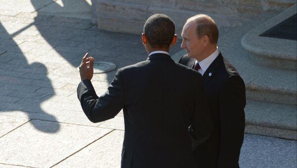 Президент России Владимир Путин и Президент Соединенных Штатов Америки Барак Обама. Архивное фото
