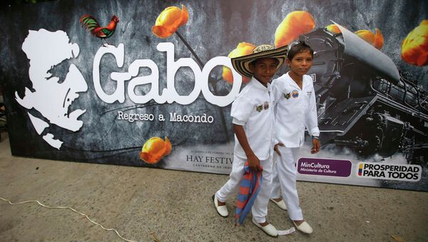 Жители города Аракатака во время прощания с Габриэлем Гарсиа Маркесом