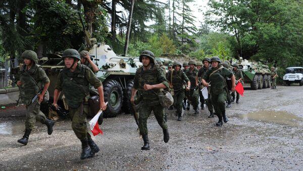 Российская военная база в городе Гудаута Республики Абхазия. Архивное фото