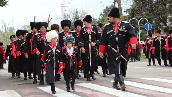 Парад казаков в Краснодаре, архивное фото
