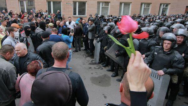 Ситуация в Луганске в 2014 году. Архивное фото