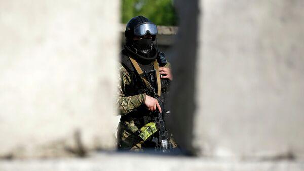 Спецоперация в Краматорске. Украинский солдат