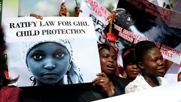 Акция протеста с требованием освободить похищенных в Нигерии школьниц