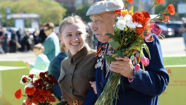 Ветеран Великой Отечественной войны, связист 3-го белорусского фронта Евгений Остроумов