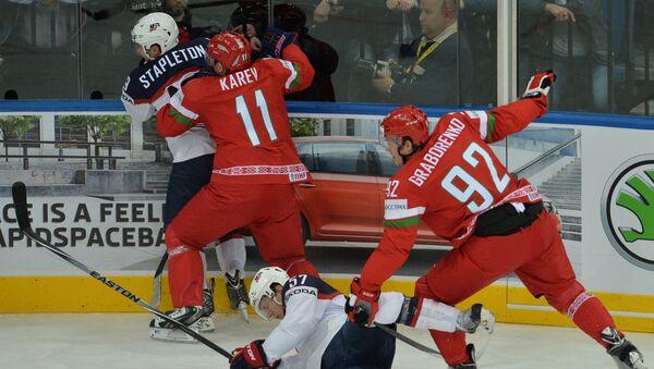 Игровой момент матча Белоруссия - США