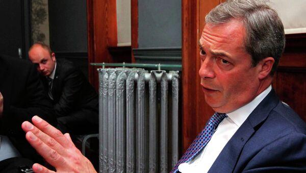 Член Европарламента, лидер Британской партии независимости Найджел Фарадж, архивное фото