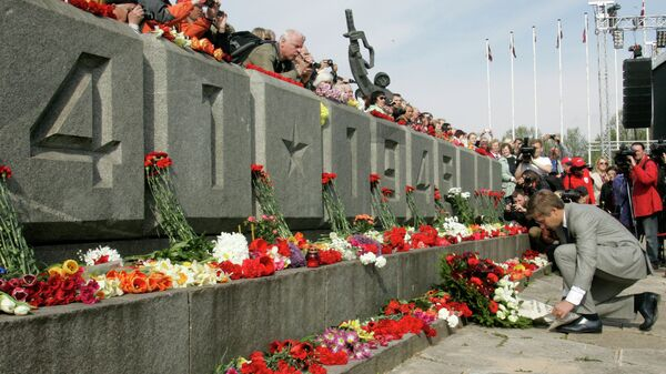 Празднование Дня Победы в Риге. Архивное фото