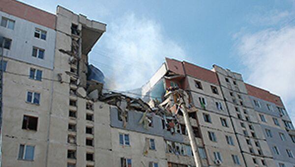 На месте взрыва в доме в украинском Николаеве