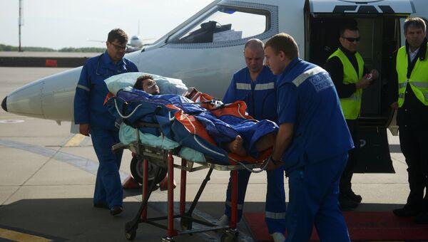 Самолет с раненым сотрудником RT прибыл в Москву. Архивное фото