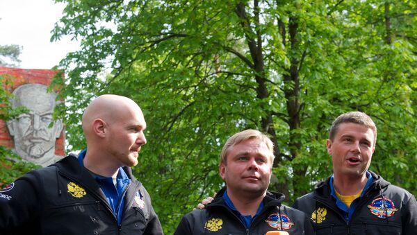 Члены основного экипажа 40/41-й длительной экспедиции на МКС