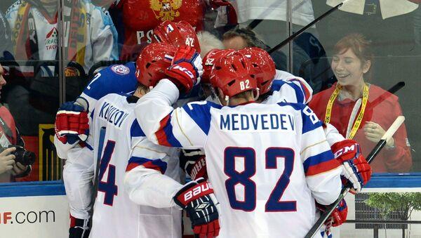 Хоккеисты сборной России. Архивное фото