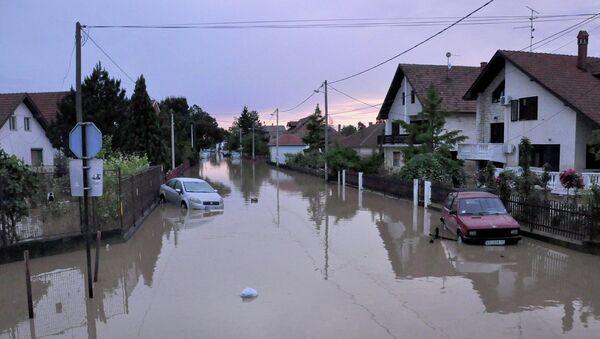 Наводнение в сербском городе Обреновац