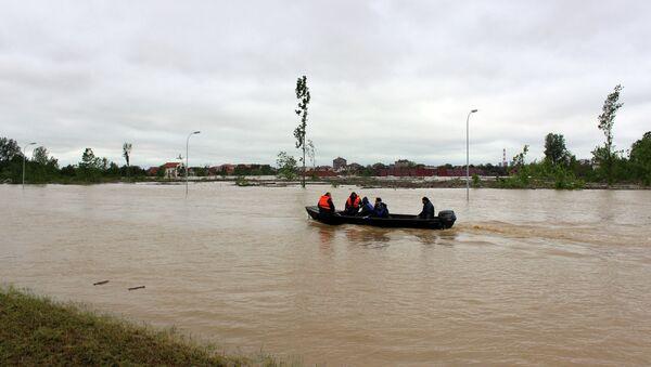 Наводнение в сербском городе Обреновац. Архивное фото