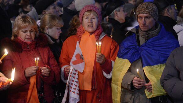 Митинг в честь годовщины оранжевой революции в Киеве, архивное фото