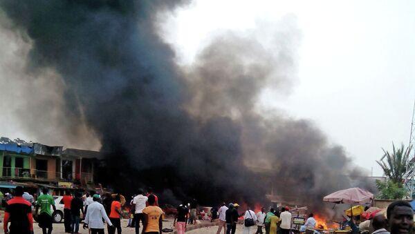 На месте взрыва в городе Джос в центре Нигерии