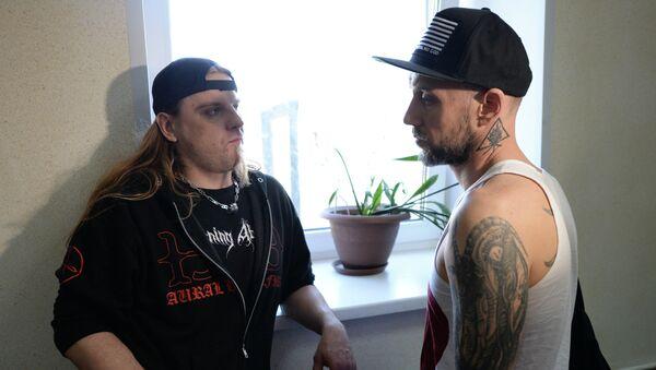 Музыканты польской группы Behemoth, архивное фото
